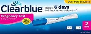 2 Clearblue Early Pregnancy Test 6 Days Early Detection Testing Kits 2...
