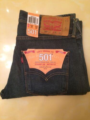 31w bottone a Nwt dritta 501 Mens a Co gamba jeans Strauss 889319549871 32l Levi wAq1HP