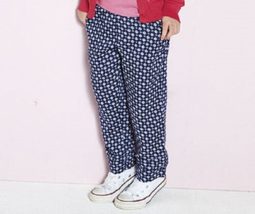 Le Ragazze Leggero Blu Casual Stampa Pantaloni in età 8-9 e 10-11 anni
