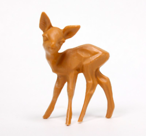 Miniature-Die-cast-Plastic-Deer-1-3-4-034-Tall-6-Pcs-Set-203-3-1411