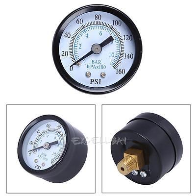 "Air Compressor Pressure/Hydraulic Gauge 1.58"" Face Back Mount 1/8"" NPT 0-160 PSI"