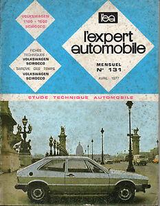 Rta Revue Technique Automobile N° 131 Volkswagen Scirocco 1100 1600 Dessins Attrayants;