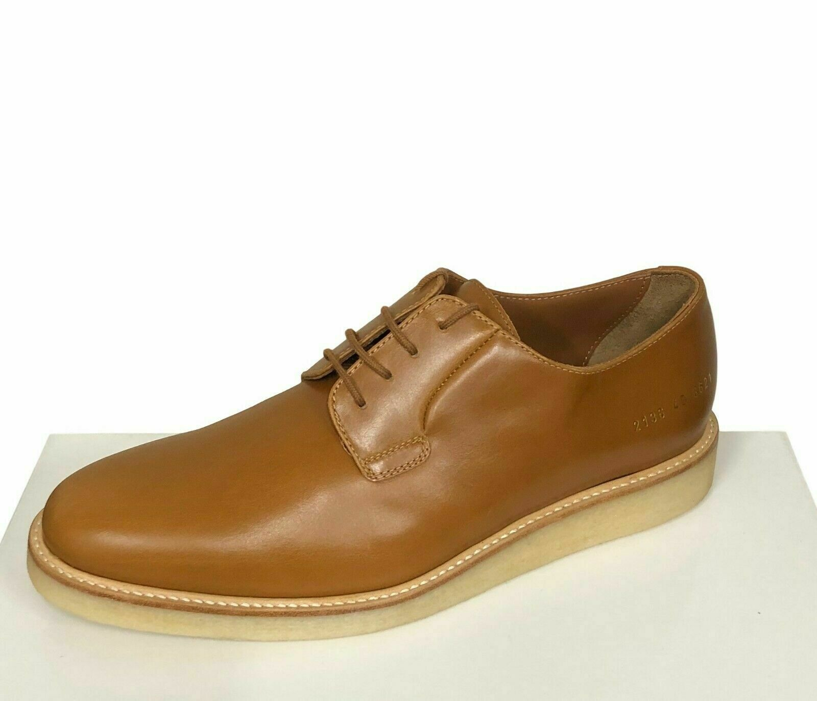 Common Projects Herren Schuhe Größe 7 40 Cognac braun Derby Glanz - Boden Models