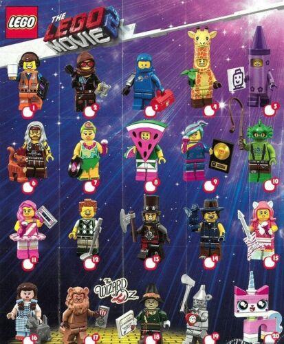 Il film LEGO MINIFIGURES SERIE 2 serie completa non aperti x 20 Sigillato in Fabbrica