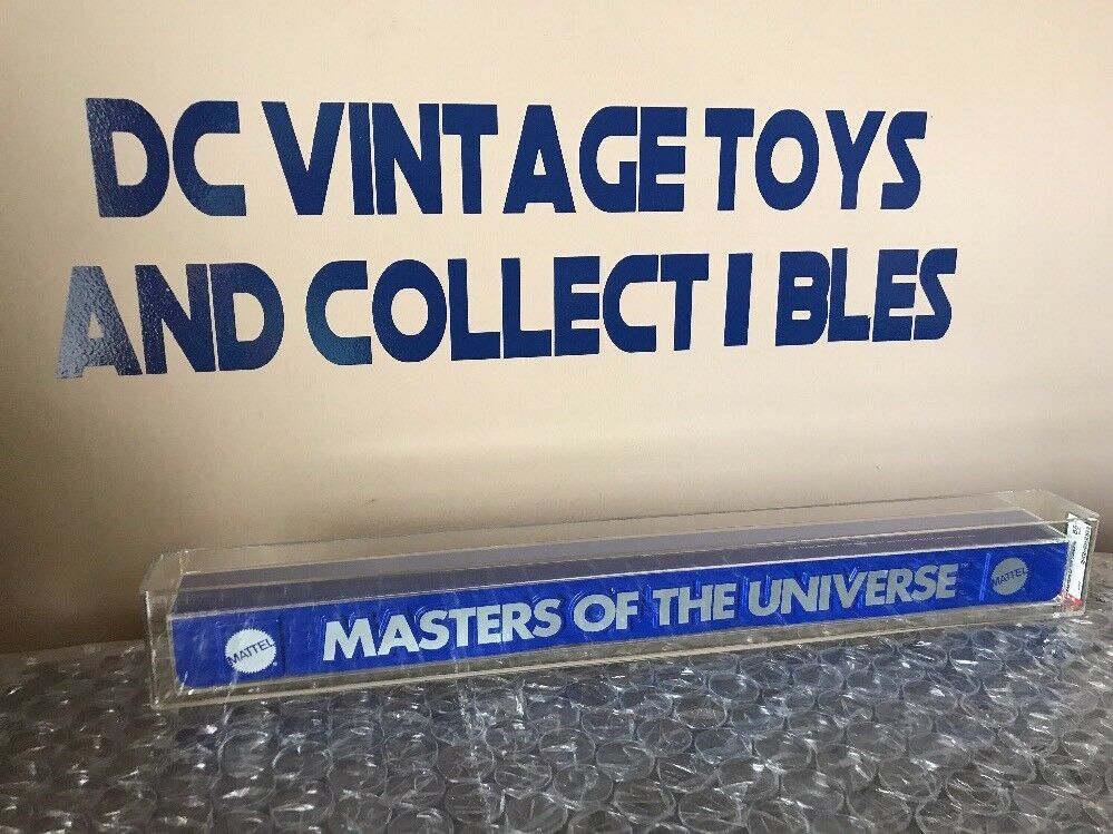 1981 Mattel Motu Masters Of The Universe Shelf Talker Store Display AFA 85+