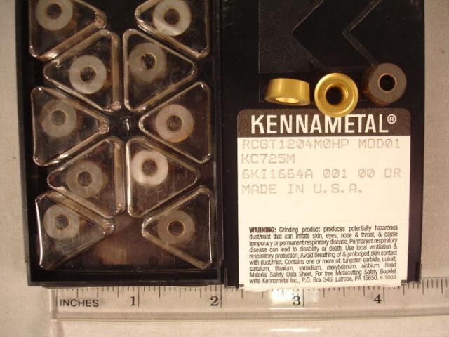 RCGT 1204M0HP KC725M KENNAMETAL Carbide  Inserts (10pcs) 156