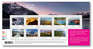 2020-Canada-From-Far-and-Wide-Souvenir-Sheet-Of-9-Unique-Stamps