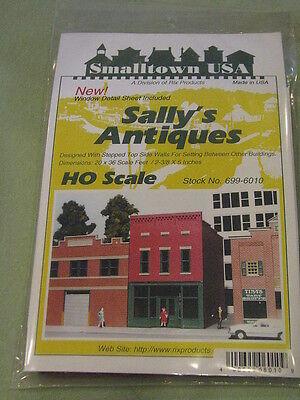 "Smalltown USA HO #699-6010 Sally's Antiques -- Kit - 4-3/4 x 2-3/4"" 11.9 x 6.9cm"