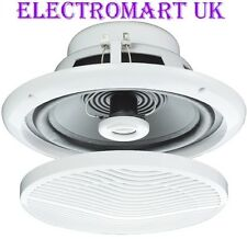 "WATER RESISTANT FULL RANGE CEILING SPEAKER BATHROOM KITCHEN SHOWER  5"" 80W"