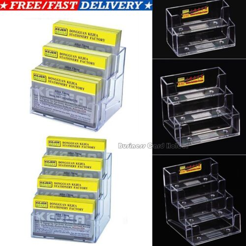 Business Card Holders Acrylic Display Stand Retail Counter /& Wall Dispensers