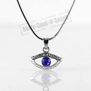 Details about blue evil eye amulet necklace good charm success protection judaica spiritual image is loading blue evil eye amulet necklace good charm success mozeypictures Choice Image