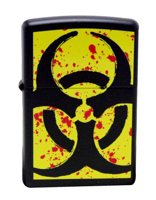 Zippo Lighter 24330 Hazardous Black Matte Windproof Classic NEW