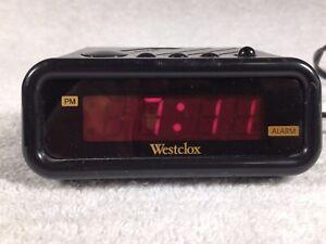 Westclox-Digital-Alarm-Clock-Model-1146-Vtg-80-039-s-Tested-E2