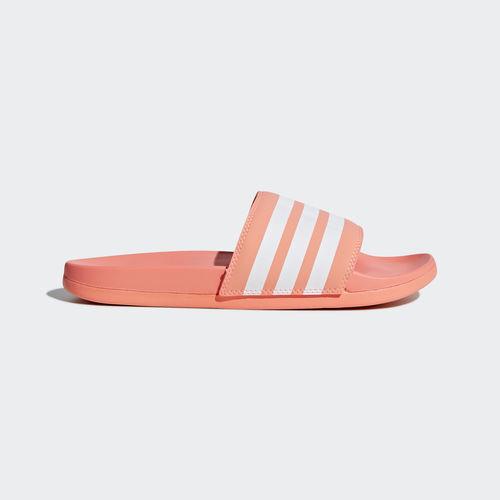 Adidas B43528 Damen Badeschuhe Adilette Comfort Sandalen pink weiß