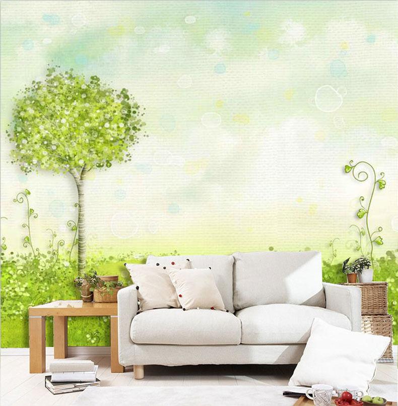 3D Green Tree Grass Painting 83 Wall Paper Wall Print Decal Wall AJ WALLPAPER CA