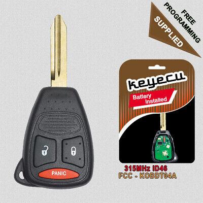 Key Shell Case fits Dodge Caliber Dakota Durango Magnum Nitro Ram KOBDT04A