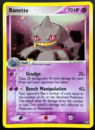 EX Power Keepers 4//108 EXCELLENT//NEAR MINT Holo Rare TCG! Pokemon Card Banette