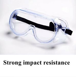 Clear Protective Safety Glasses Eye Protection Anti-fog Fit-over goggles