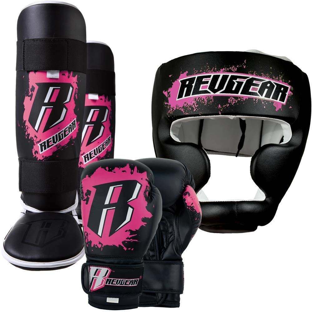 Revgear Youth Kids Boxing MMA Sparring Gear Set -  Pink  for sale online