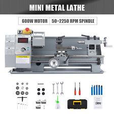 8x14 Digital Mini Metal Lathe Metalworking Diy Processing Variable Speed Bench