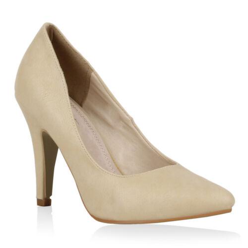 Damen Abiball Pumps Elegante High Heels Spitze Schuhe Office 72310 Hochzeit Top