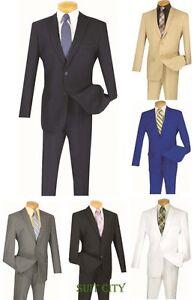 Costume Homme à Boutonnage Simple 2 Boutons 2 Pièce Slim Couleurs Unies S-2pp-afficher Le Titre D'origine MatéRiaux De Qualité SupéRieure
