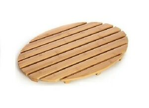New natural bamboo wood wooden oval bath shower duck board slatted