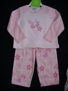 b3a028e63c69 NWT Girls Carter s Fleece Pajamas Size 4 Winter Pjs Pink Fleece ...