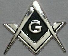 Masonic cut-out car emblem in silver