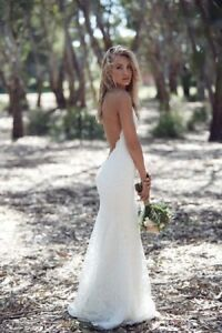 Image Is Loading Hot Y Sheath Lace Backless Beach Wedding Dresses