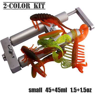 Twin Dual Color Hand Injector Mixing Set Kit for Soft  2 x 45 ml Plastisol Lure