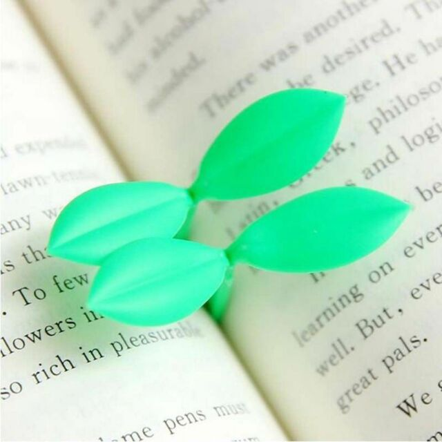 2 Pcs Leaves Accessories School Teachers Students Sprout Bookmark Book Marks CA
