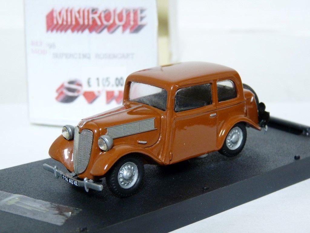 MINIROUTE 98 1 43 ROSENGART SUPERCINQ Handmade  Résine Voiture Modèle  service de première classe