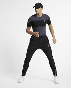 Details about Nike Court Tennis Pants Mens Black Solid Semi Fitted Active Wear BV1091 010