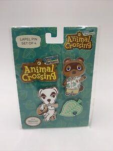 ✅Fast Animal Crossing New Horizons Enamel Lapel Pins 4 Piece Nintendo Switch