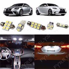 13 Piece White LED lights interior package conversion kit Lexus IS 2014 Up #LI2W