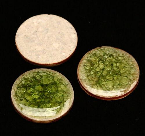 2x Porzellan Crackle Cabochons zum Kleben Basteln Schmuck DIY Farbwahl 20mm