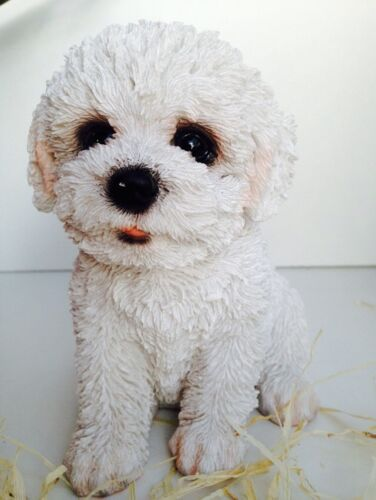 Bichon  Frise Puppy Dog Dogs Vivid Arts Garden Ornament