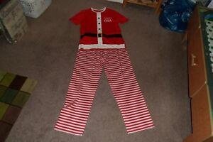 Pigiama nuovo bianco Lovely Rosso daddy Natale Piccolo Claus bnwt Mens Taglia 8wfwIpqnaF