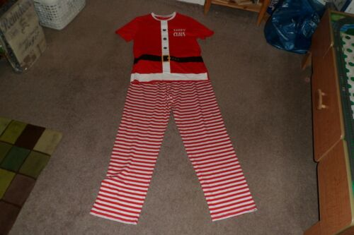"""LOVELY MENS RED//WHITE CHRISTMAS /""""DADDY CLAUS/"""" PYJAMAS SIZE SMALL****BNWT****NEW*"""