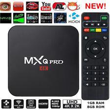 MXQ Pro Quad Core 64 bit 4K Android 6.0 Smart TV Box 1gb 8gb KD v17.1 Krypton