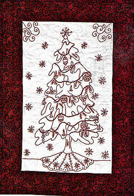 Christmas Redwork /& Country Quilts 20 Projects Full-Size Templates Pattern BooK