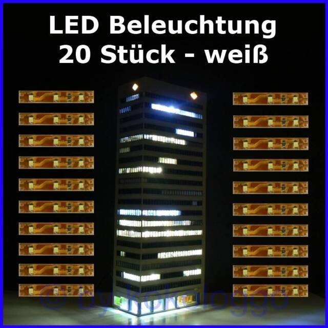 LED Interior Lighting Carriage Lighting White Per 5cm 3 SMD Leds 20 Piece S333