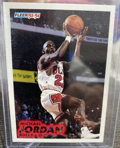 93-94-Fleer-Michael-Jordan-Base-Card-Chicago-Bulls-Goat