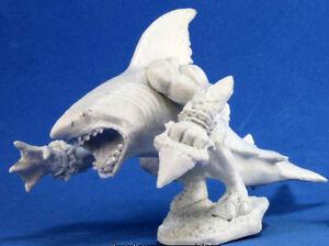 1 x HOMME REQUIN - BONES REAPER figurine miniature jdr rpg d&d sharkman 77278