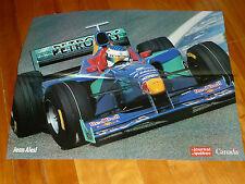 SAUBER PETRONAS 1998 98 JEAN ALESI 14 DEPLIANT POSTER JOURNAL QUEBEC ORIGINAL F1