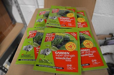 Bayer Super Strength Glyphosate-6 Sachet Weed Killer-weedkiller-free Uk Post