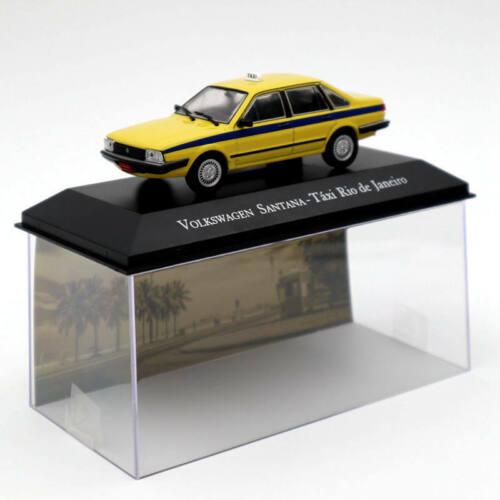 IXO Volkswagen Santana Taxi Rio De Janeiro Yellow Diecast Models Collection 1:43
