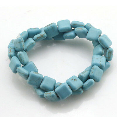 Turkey Turquoise Gemstone Square piece Spacer Beads Loose Beads Strand 15.5''