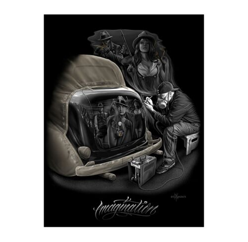 Imagination Lowrider Al Capone Gangster by David Gonzales Art DGA 18 x 24 Poster